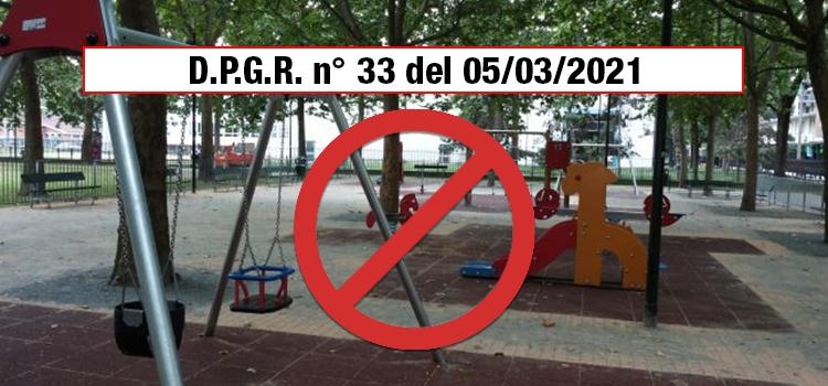 D.P.G.R. N°33 del 5/3/2021